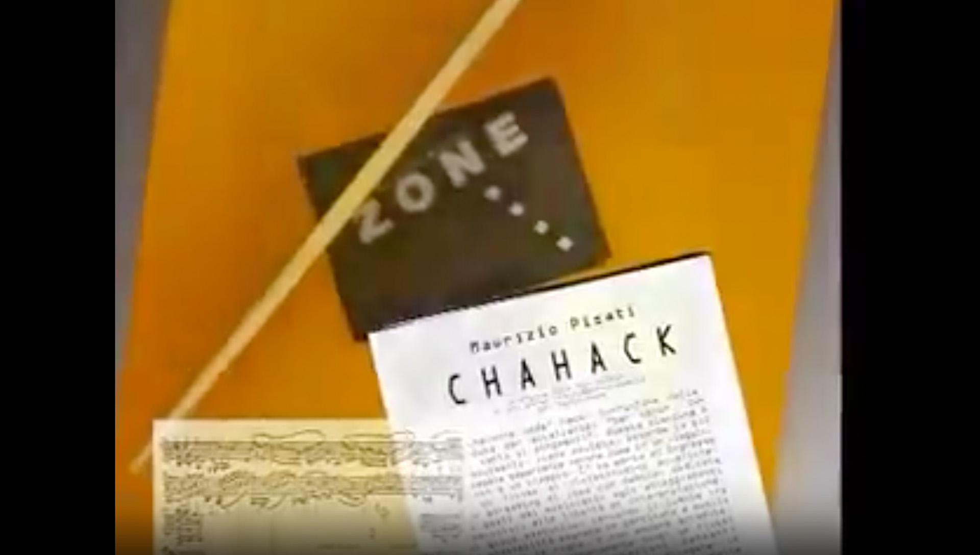 Maurizio Pisati: Clip video su Chahack