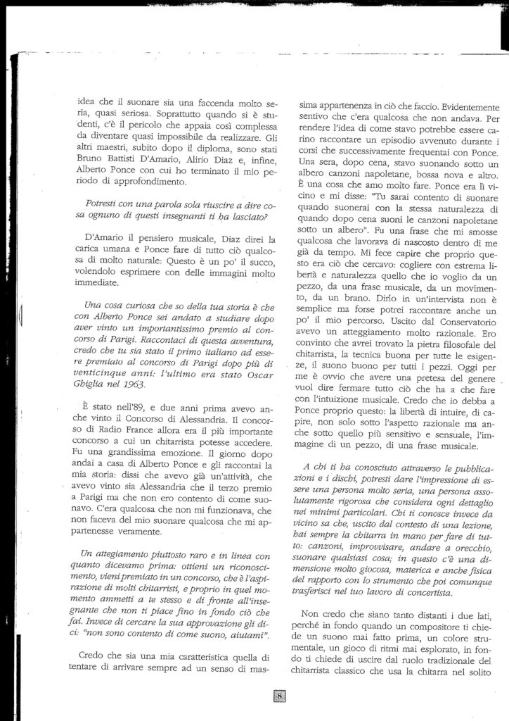 Intervista ad Arturo Tallini 2