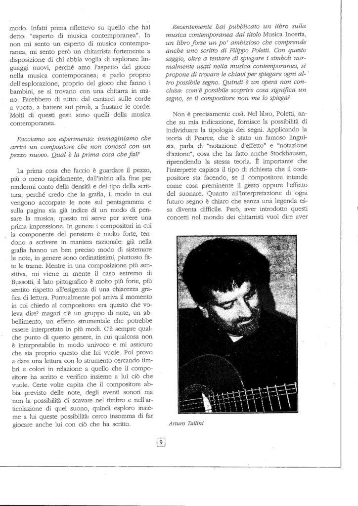 Intervista ad Arturo Tallini 3
